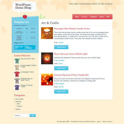 Crafy cart wordpress theme